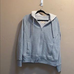 Gray jacket with Sherpa lining